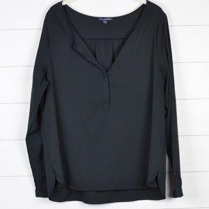 💙American Eagle 1/2 Button Long Sleeve Blouse